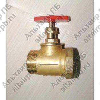 Клапан пожарный запорный муфтовый латунный 15Б3р (М+Ц) Сертификат ПБ