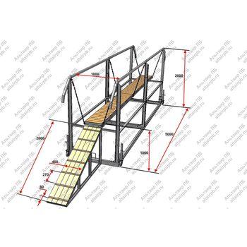 Мост подвесной спортивный для соревнований по пожарно-прикладному спорту